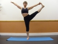Extended hand big toe posture